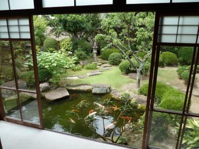 Vườn Nhật từ trên cao